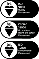 ISO 9001, OHSAS 18001 and ISO 14001 Qualified